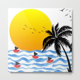 Sunset Summer Metal Print