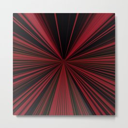 Red and Black Abstract Lines Metal Print