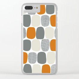 Wonky Ovals in Orange Clear iPhone Case