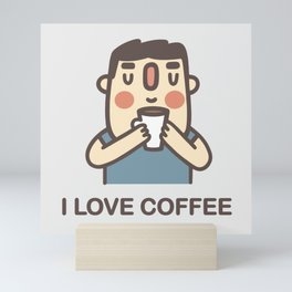 I Love Coffee Mini Art Print