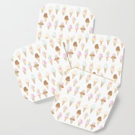 Watercolor Ice Cream Cones Coaster