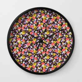 Floral Haze Wall Clock