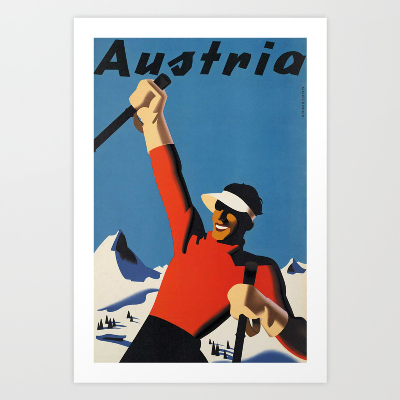Vienna Travel Poster Romance Travel Vintage Austria print