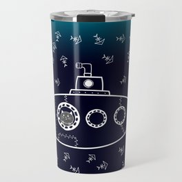 Cat in Submarine Travel Mug