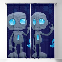 Waving Robot Blackout Curtain