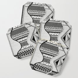 Wavy Geometric Patterns Coaster