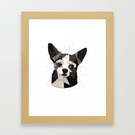 Black Chihuahua Framed Art Print
