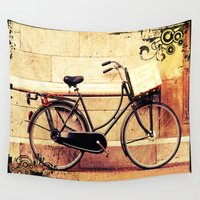 bicycle Wall Tapestries featuring Bicycle by Indigo Rayz