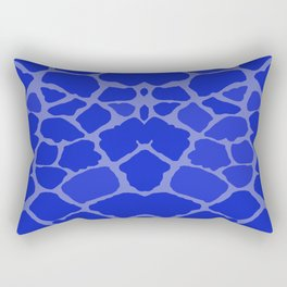 Blue Giraffe Print Rectangular Pillow