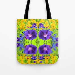 MORNING GLORIES WATER GARDEN REFLECTION Tote Bag