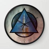 apollo Wall Clocks featuring Apollo by Paul Conrad