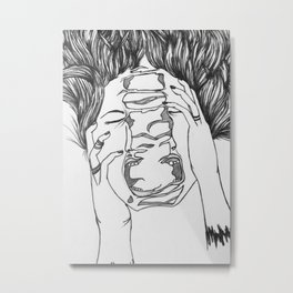 Mental Health Series: Depression Metal Print