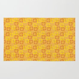 Interlocking Squares - Orange Rug