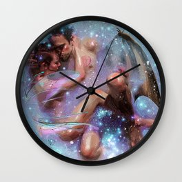 nude love Wall Clock