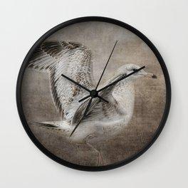 Dance of the Lone Gull Wall Clock