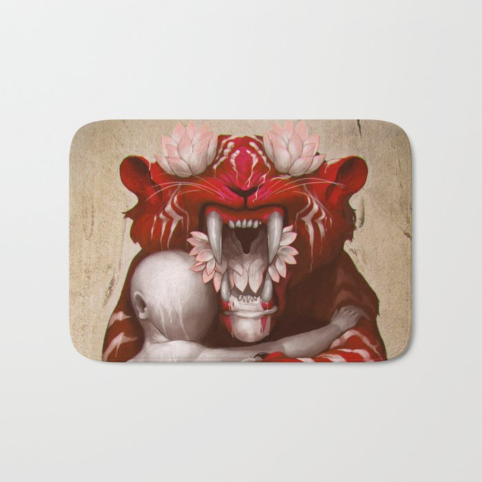 The Lotus Tiger Bath Mat
