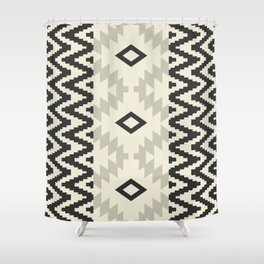 Ion in Cream and Black Shower Curtain
