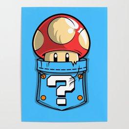 Mushroom toad Poster