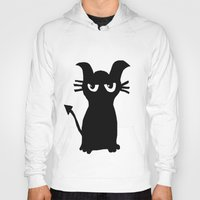 kitty Hoodies featuring kitty by Sproot