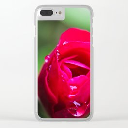Tiny Rose Clear iPhone Case