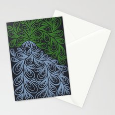 Light Green and Gray Drops Stationery Cards