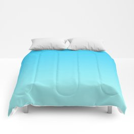 Simply sea blue teal color gradient - Mix and Match with Simplicity of Life Comforters