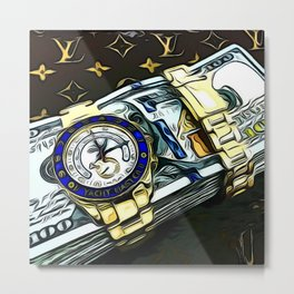 LV bands with the rollie Metal Print