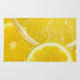 Juicy Lemon Slices Fruit Design Rug