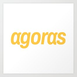 Agoras cryptocurrency Art Print
