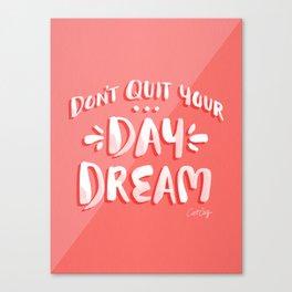 Don't Quit Your Day Job – Watermelon Palette Canvas Print
