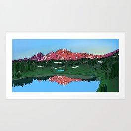 Bridger Views Art Print