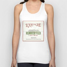 Christmas Reindeer Feed sack Unisex Tank Top