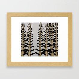 iron structure art Framed Art Print