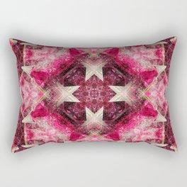 Crystal Matrix Mandala Rectangular Pillow