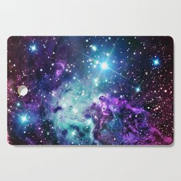 Fox Fur Nebula : Purple Teal Galaxy Cutting Board