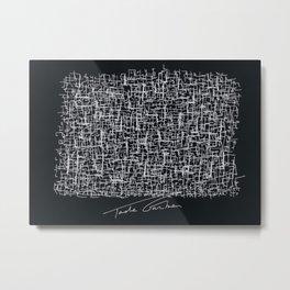 My brain from GoogleMaps Metal Print