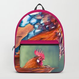 Colorful Rooster Backpack