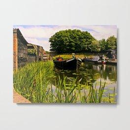 Canal dock. Metal Print