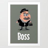 boss Art Prints featuring Boss by Glenn Melenhorst