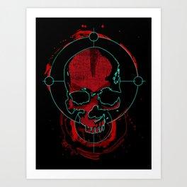 Skull red Art Print