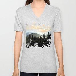 Mountain Landscape Unisex V-Neck