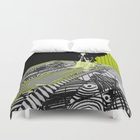 shadow Duvet Covers featuring shadow by Cenk Cansever