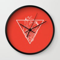equality Wall Clocks featuring Equality Heart by taylovision