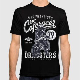 Caferacer Vintage Motorcycle Typography T-shirt