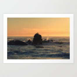 Brookings Sunset Art Print