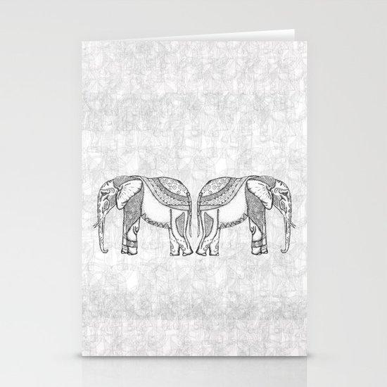 Indian Elephants Stationery Cards