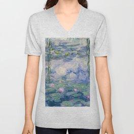 """Claude Monet """"Water Lilies(Nymphéas)"""" (9) 1916–19.jpg Unisex V-Neck"""