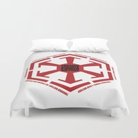 sith Duvet Covers featuring The Code of the Sith by Spectacle Photo