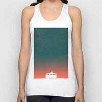 starry night Tank Tops featuring Quiet Night - starry sky by Picomodi