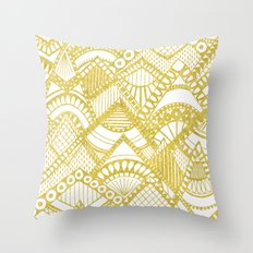 Golden Doodle mountains Throw Pillow